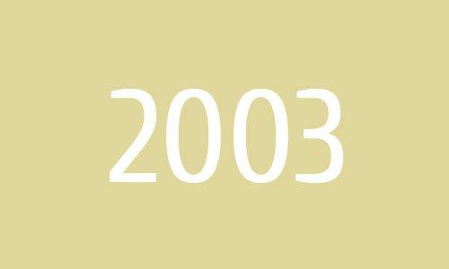 Sobre nós - 2003