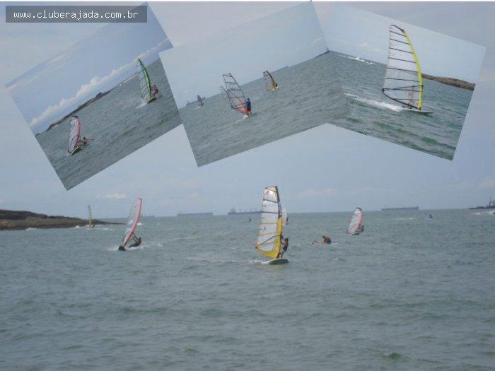 Notícias - Vento sul forte e muito winsdsurfista na água!